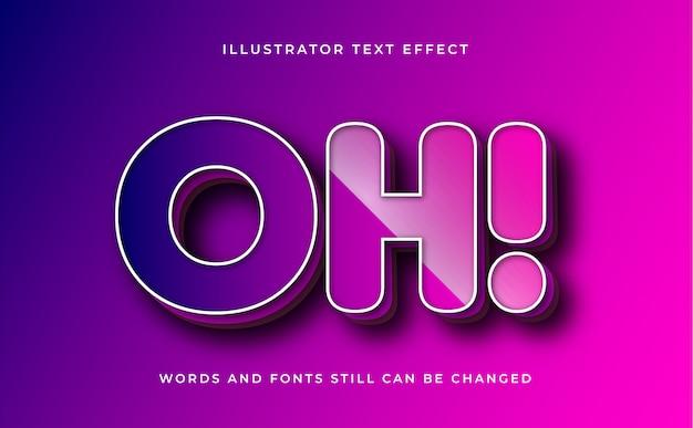 Effetto di testo modificabile moderno