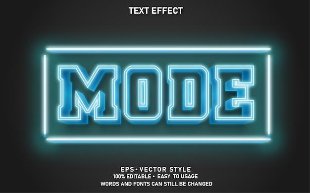 Effetto stile moderno testo modificabile azzurro
