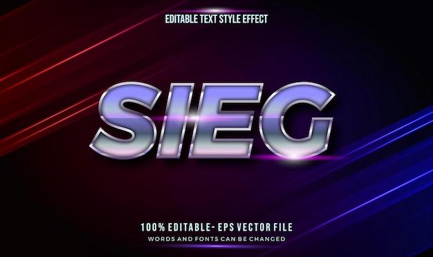 Moderno stile di testo modificabile effetto cromo lucido colore viola.