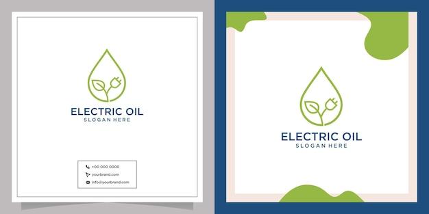 Design moderno del logo a goccia elettrica