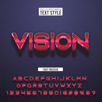 Tipografia moderna futuristica rossa 3d elegante
