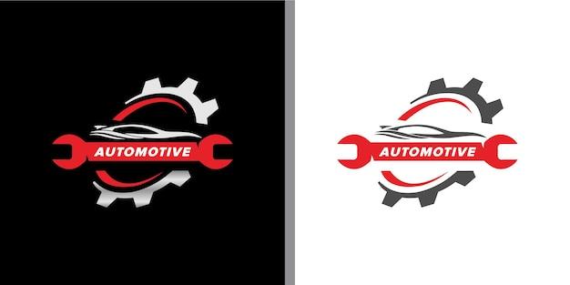 Set logo automobilistico moderno ed elegante