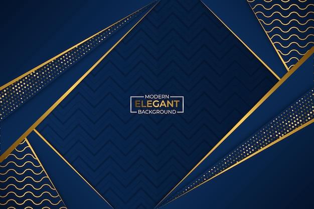 Sfondo moderno elegante blu e oro con glitter