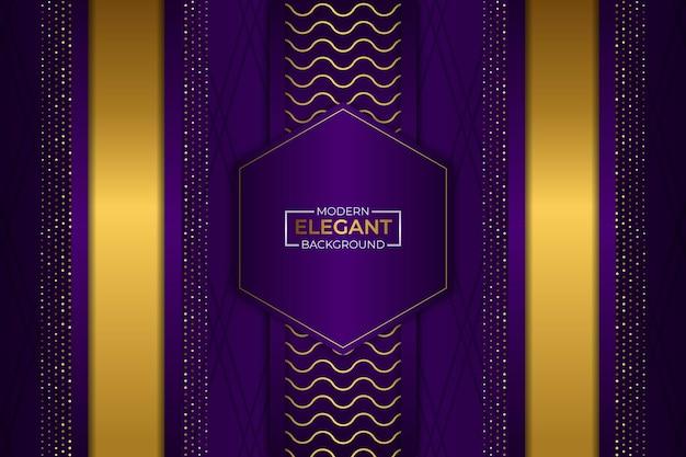 Sfondo elegante moderno viola e oro con glitter