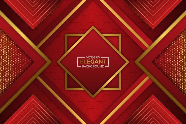 Sfondo moderno elegante rosso e oro con glitter