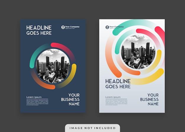 Modello minimalista di copertina e poster del libro aziendale moderno ed elegante