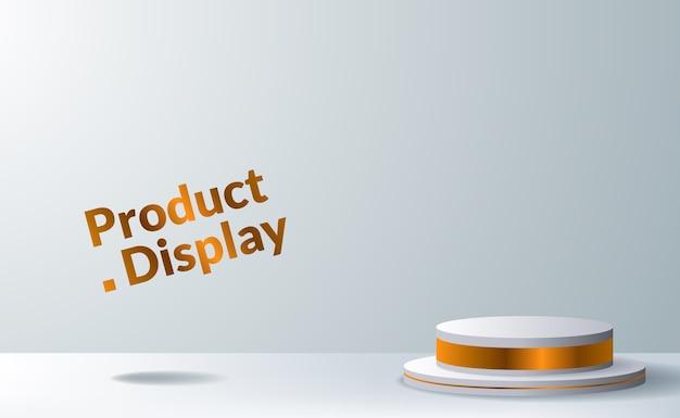 Palco con piedistallo a cilindro moderno ed elegante per l'inserimento di prodotti per la pubblicità