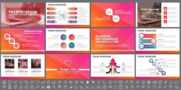Elementi moderni di infografica per presentazioni
