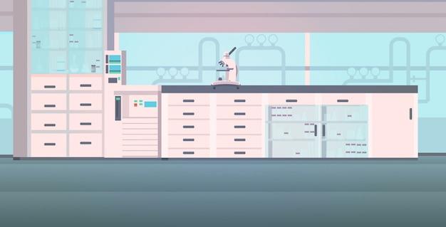 Interno moderno laboratorio vuoto