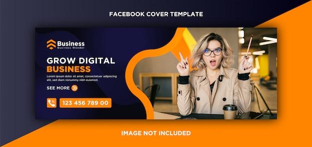 Moderno modello di copertina di facebook