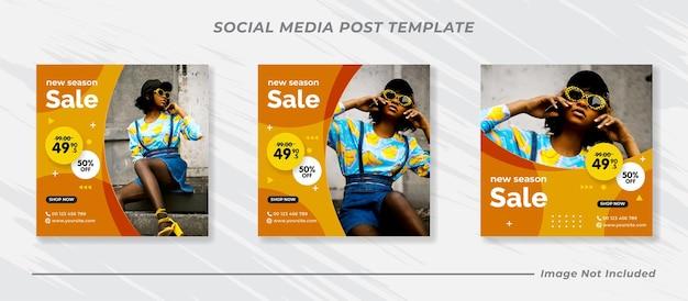 Modello di post instagram di vendita di moda moderna