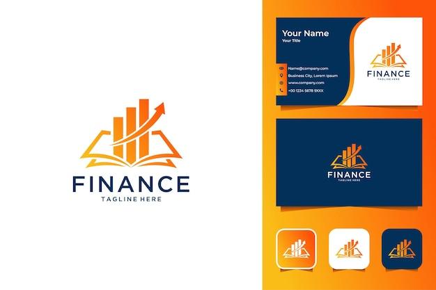 Finanza moderna logo design e biglietto da visita