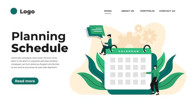 Illustrazione di design piatto moderno di gestione del tempo.