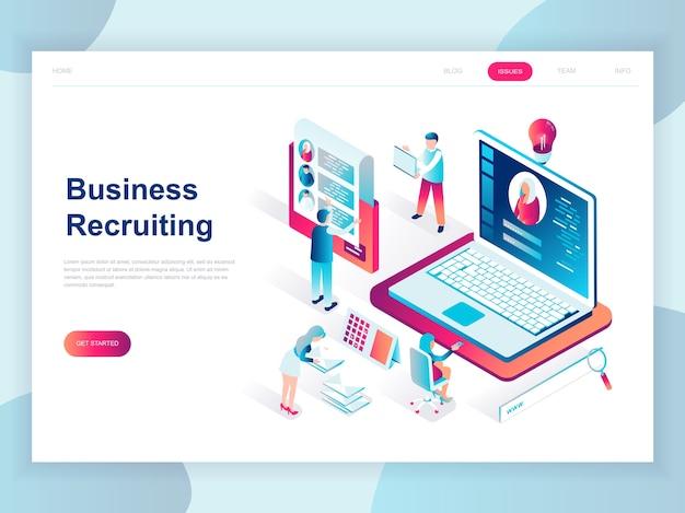 Concetto isometrico moderno design piatto di business recruiting