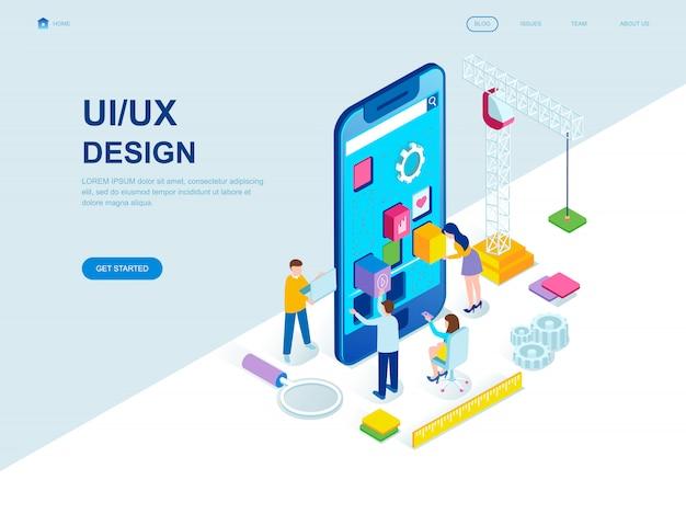 Pagina di destinazione isometrica di design piatto moderno