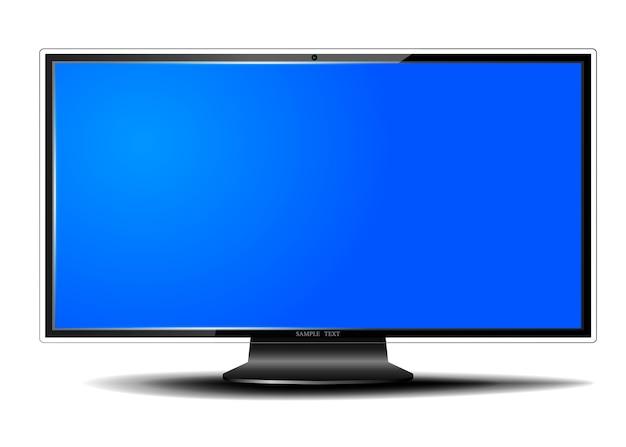 Moderna tv a schermo piatto con ombra su sfondo bianco isolato, pannello lcd
