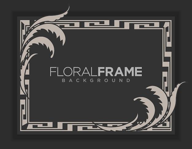 Vettore di sfondo moderno cornice floreale