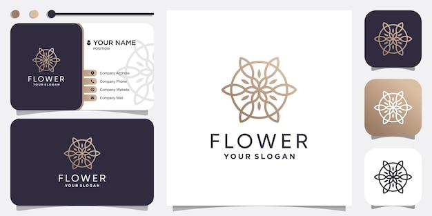 Modello di logo moderno fiore vettore premium
