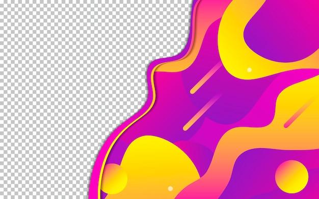 Sfondo fluido moderno con schermo trasparente