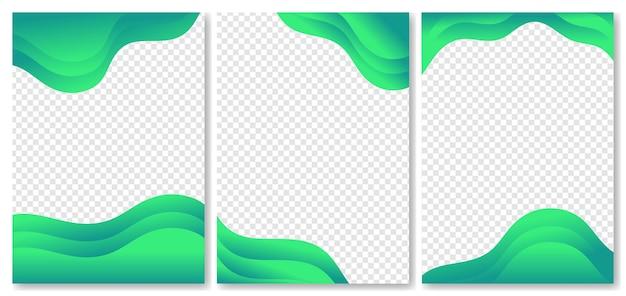 Collezione di sfondi astratti di colori sfumati fluidi moderni per poster banner brochure flyer
