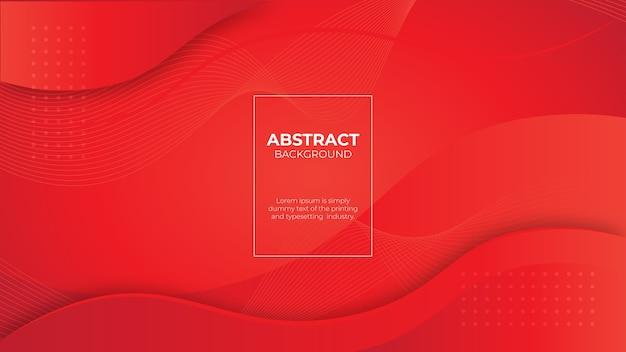 Moderno banner sfumato rosso fluido con forme curve