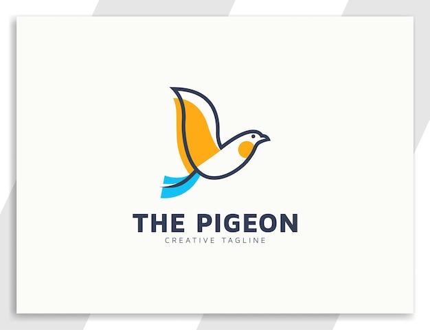 Illustrazione moderna del logo dell'uccello volante