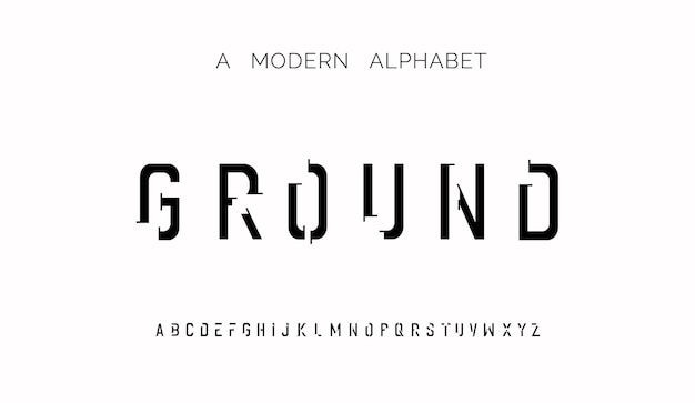 Caratteri moderni creativi caratteri alfabetici moderni