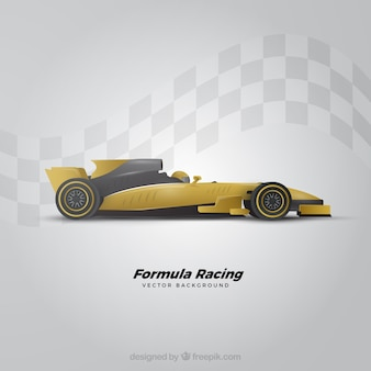 Moderna macchina da corsa di formula 1 con un design realistico