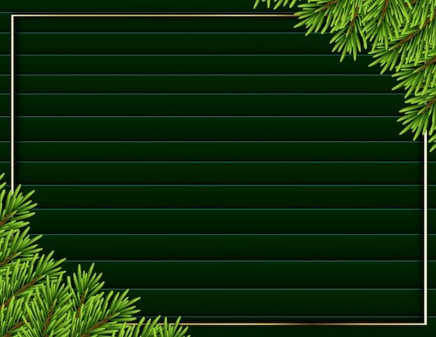 Sfondo albero realistico cornice moderna