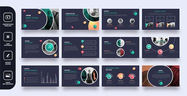 Modello di presentazione di diapositive aziendali moderno e divertente