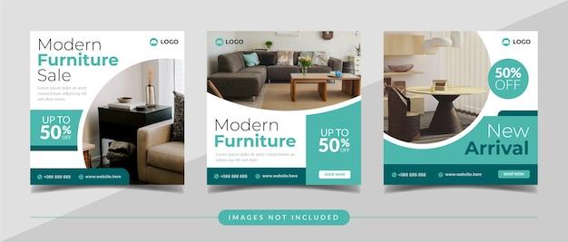 Banner di vendita di mobili moderni per post instagram e marketing digitale