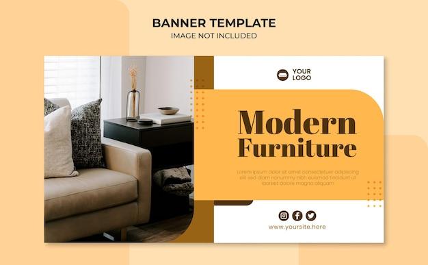 Modello di banner web per mobili moderni