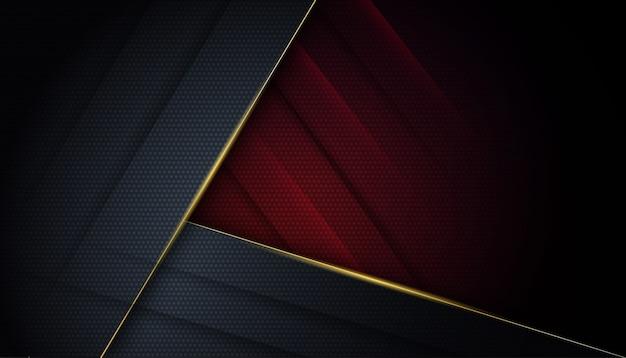 Fondo rosso e nero astratto geometrico moderno