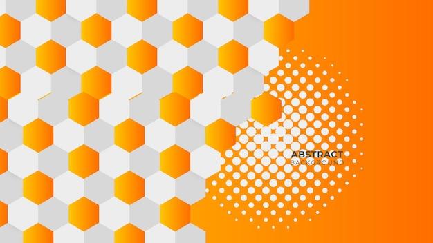 Sfondo geometrico moderno. elementi arancioni con gradiente fluido. composizione di forme dinamiche