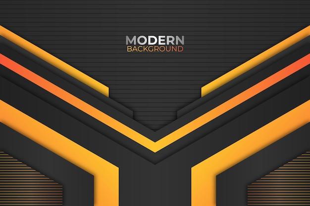 Sfondo scuro e arancione geometrico moderno