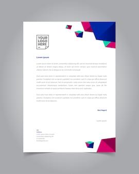 Design moderno modello di carta intestata geometrica