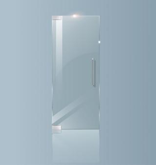 Moderna porta a vetri. concetti trasparenti per progetti architettonici.