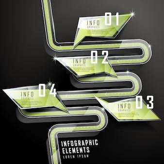 Modello di elementi infographic moderno fumetto lucido