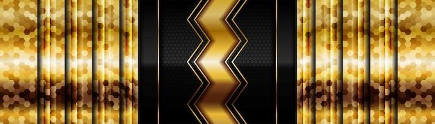 Oro luminoso moderno con carbonio scuro nero per un design astratto