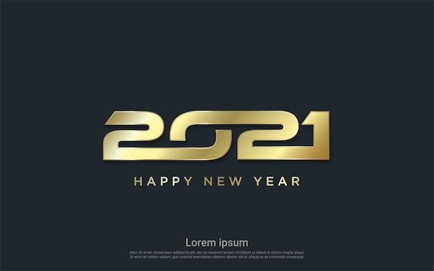 Sfondo moderno oro felice nuovo 2021 anni