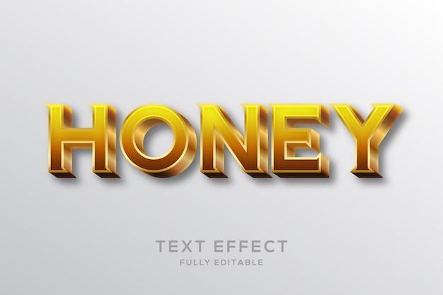 Effetto di testo 3d miele oro moderno