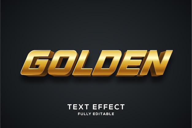 Effetto di stile di testo 3d dorato moderno