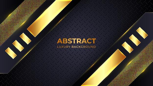 Modello di sfondo di lusso dorato moderno con forme geometriche