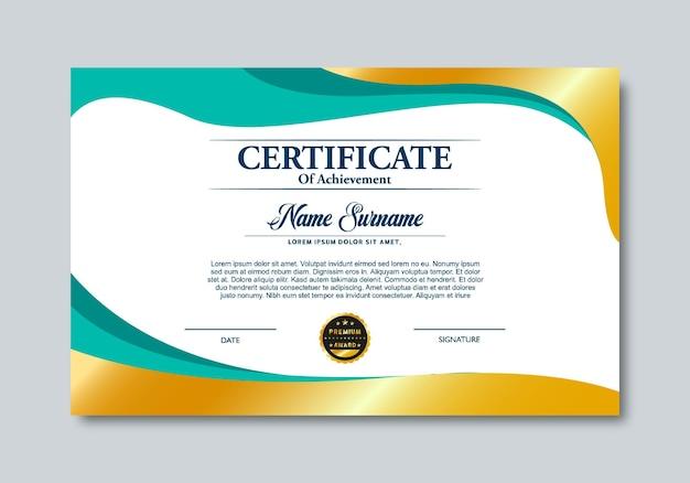 Modello di progettazione del certificato gradiente moderno