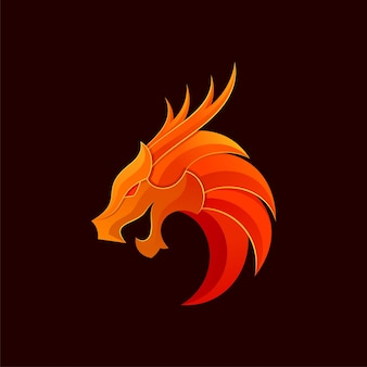 Logo del drago sfumato moderno