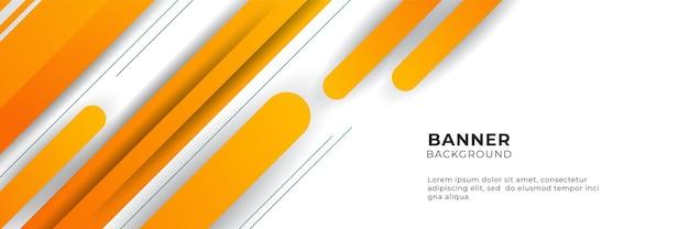 Modello di progettazione di sfondo astratto banner arancione e giallo sfumato moderno