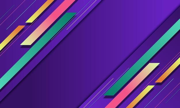 Strisce e linee sfumate moderne su sfondo viola. modello semplice per il tuo design.