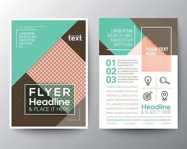 Modello moderni di layout di progettazione del flyer del prospetto di affari verdi