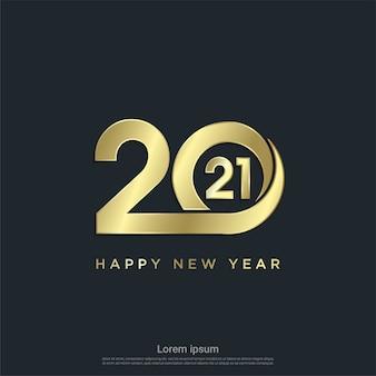 Sfondo moderno felice nuovo anno 2021.