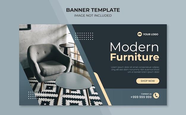 Modello di banner moderno per mobili per la casa